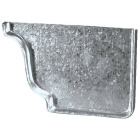 Amerimax 5 In. Galvanized Right Gutter End Cap Image 2