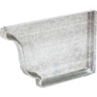 Amerimax 5 In. Galvanized Right Gutter End Cap Image 1