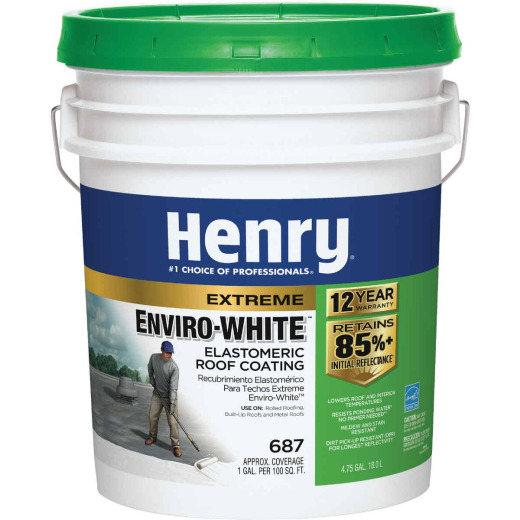 Henry Enviro-White 5 Gal. Acrylic Elastomeric Roof Coating