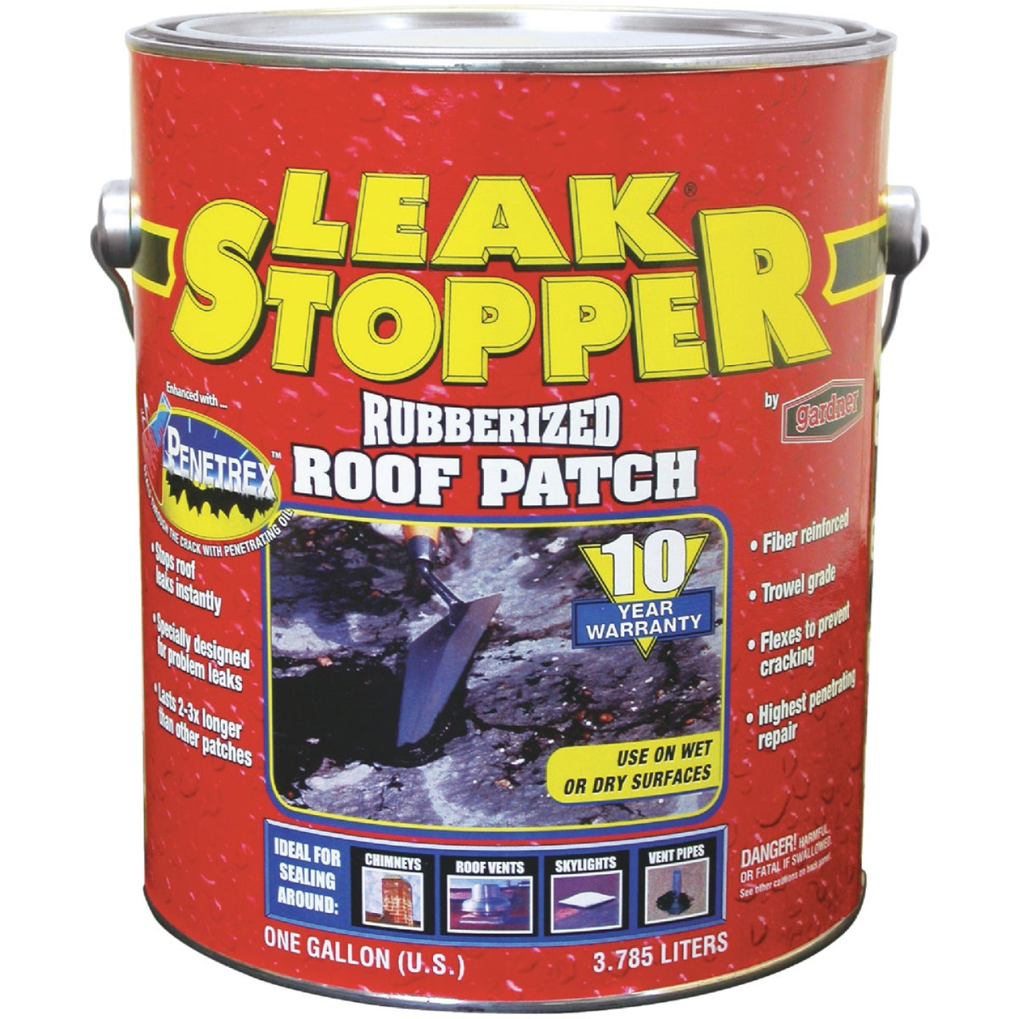 Black Jack Leak Stopper 1 Gal. Rubberized Roof Patch Image 1