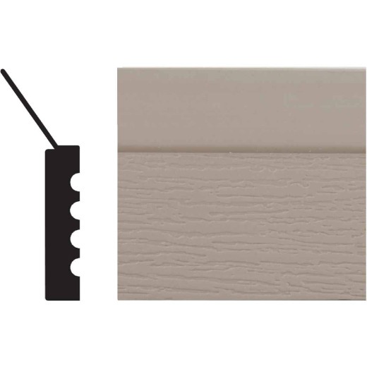 Royal Thermo Stop 2 In. W. x 7/16 In. H. x 7 Ft. L. Sandstone PVC Weatherstrip Garage Door Stop