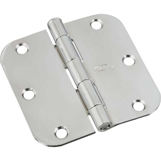 National Gallery Series 3-1/2 In. x 5/8 In. Radius Chrome Door Hinge