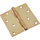 National 4 In. Square Satin Brass Tone Door Hinge Image 1