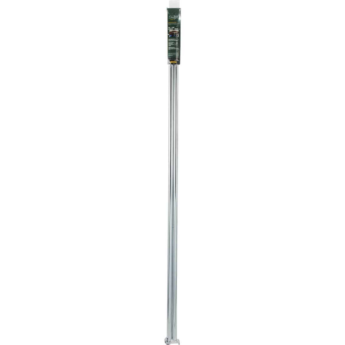National 72 In. To 120 In. Adjustable Closet Rod, Chrome Image 2