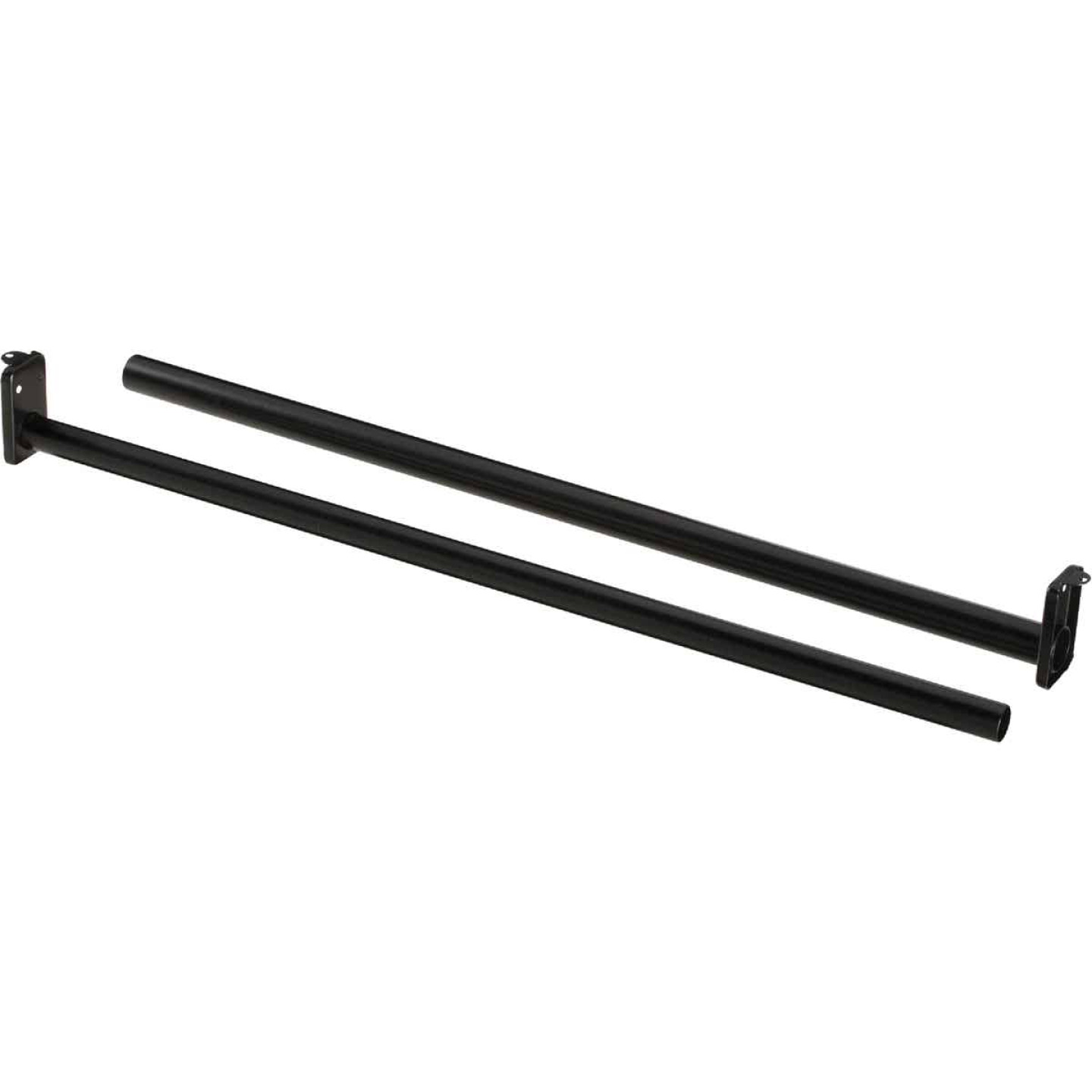 National 30 In. To 48 In. Adjustable Closet Rod, Oil Rubbed Bronze Image 1