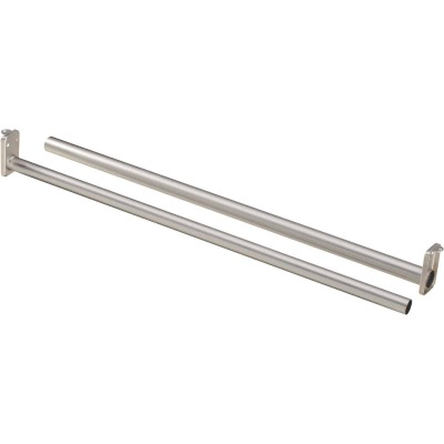 National 30 In. To 48 In. Adjustable Closet Rod, Satin Nickel