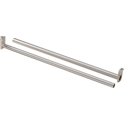 National 48 In. To 72 In. Adjustable Closet Rod, Satin Nickel