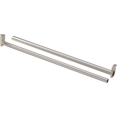 National 72 In. To 120 In. Adjustable Closet Rod, Satin Nickel