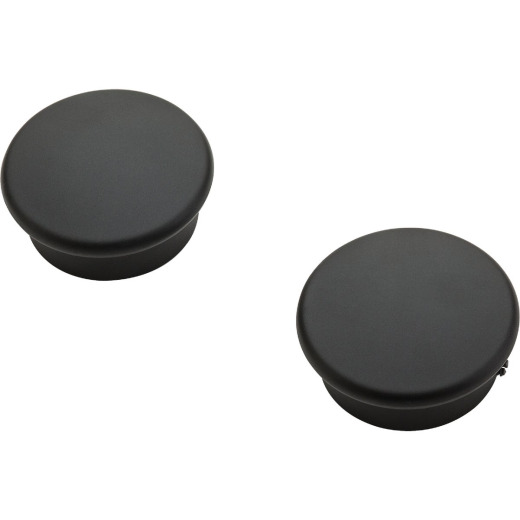 National Catalog V8602 Oil Rubbed Bronze Closet Rod End Caps (2-Count)