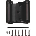 National 3 In. Oil Rubbed Bronze Double-Acting Spring Door Hinge Image 1