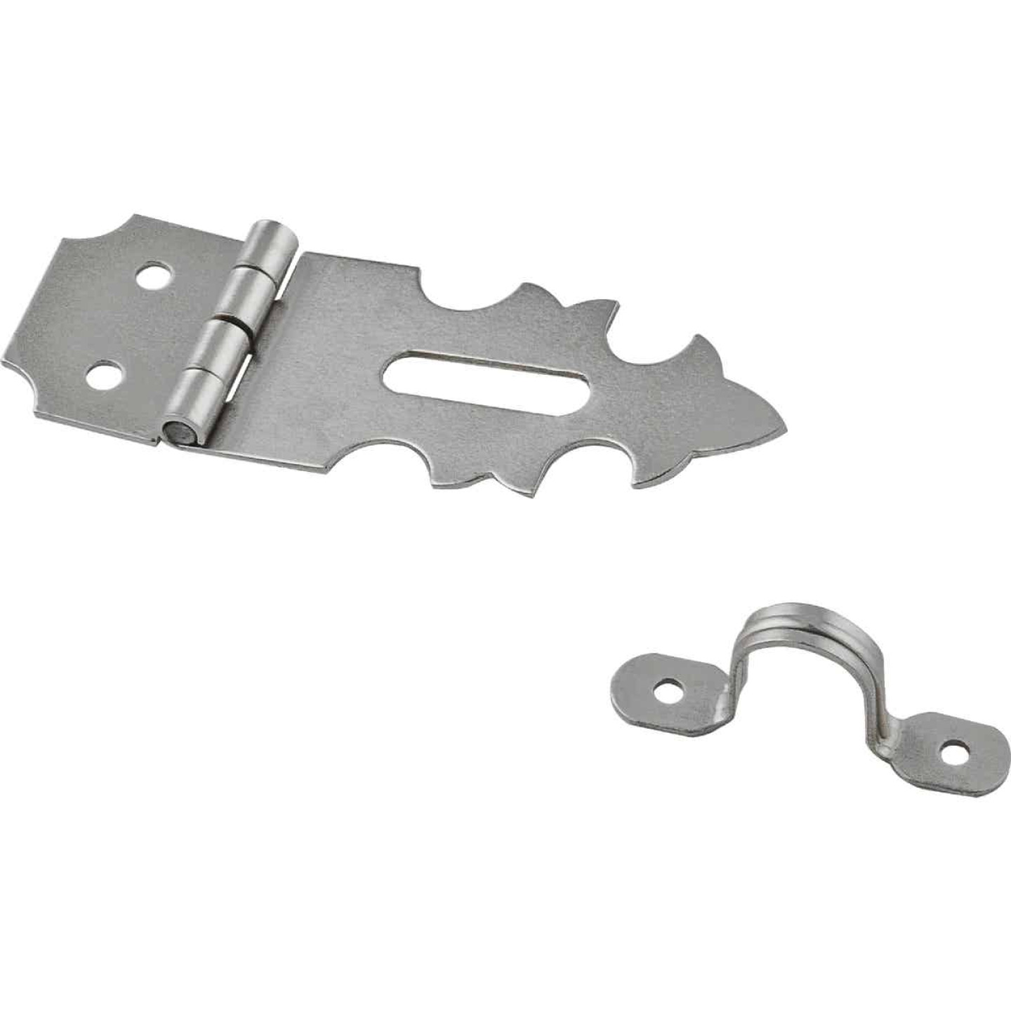 National 5/8 In. x 1-7/8 In. Satin Nickel 2-Hole Decorative Hasp Image 1