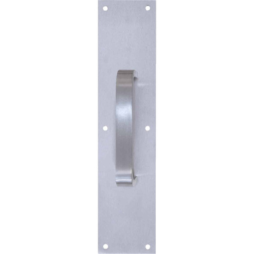 "Tell 6"" Aluminum Pull Plate with Flat Handle"