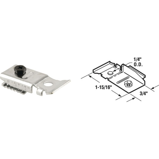 Prime-Line Steel Bi-Fold Door Top Pivot Bracket