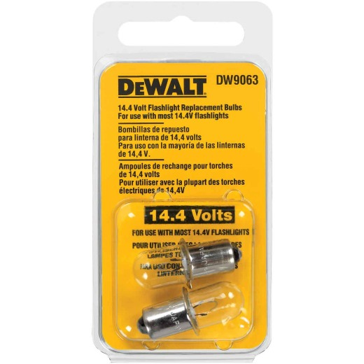 DeWalt 14.4V Xenon Replacement Flashlight Bulb (2-Pack)