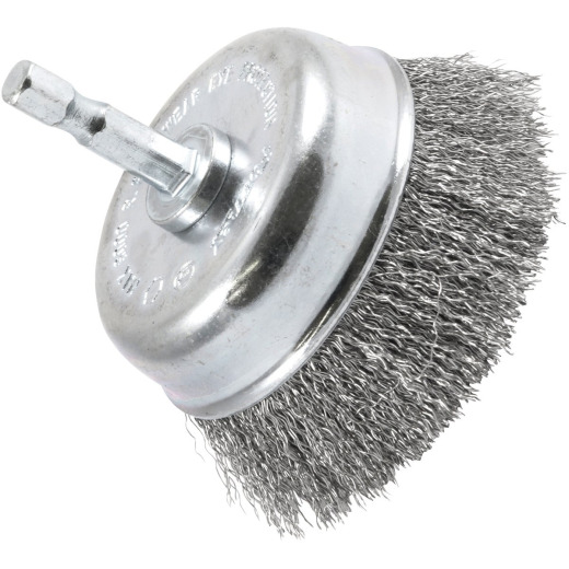 Forney 3 In. 1/4 In. Hex Fine Drill-Mounted Wire Brush