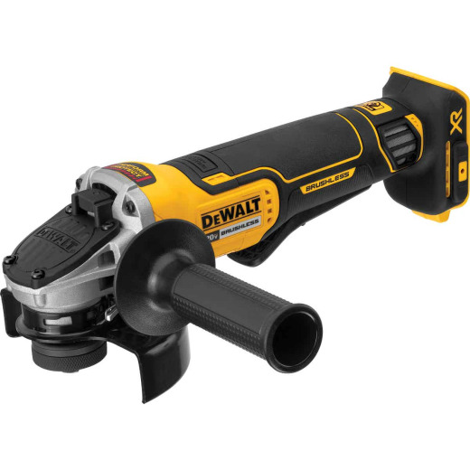 DeWalt 20 Volt MAX Lithium-Ion 4-1/2 In. Brushless Cordless Angle Grinder w/Kickback Brake (Bare Tool)