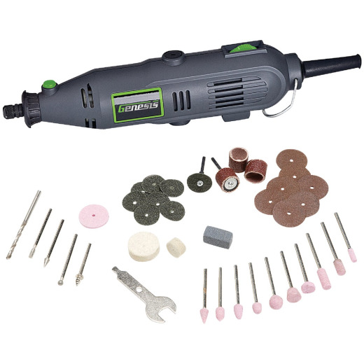 Genesis 120 Volt 1.0 Amp Variable Speed Electric Rotary Tool Kit with 40 Accessories