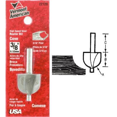 Vermont American Carbide Tip 1-1/4 In. Cove Bit