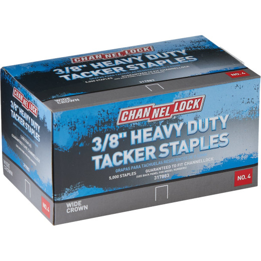 Channellock No. 4 Hammer Tacker Staple, 3/8 In. (5000-Pack)