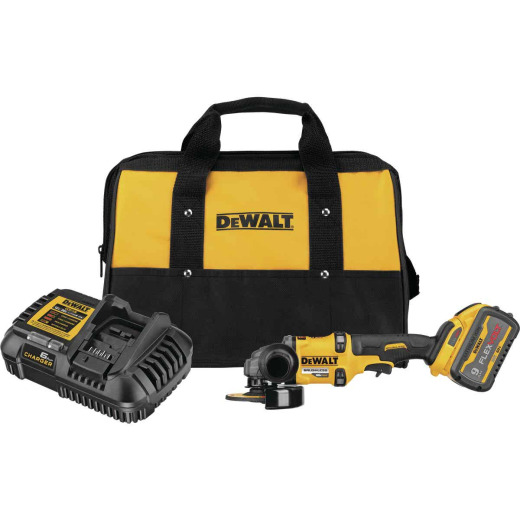 DeWalt Flexvolt 60 Volt MAX Lithium-Ion 4-1/2 In. - 6 In. Brushless Cordless Angle Grinder with Kickback Brake Kit