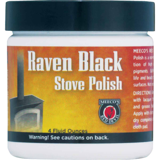 Meeco's Red Devil 4 Oz. Paste Black Stove Polish