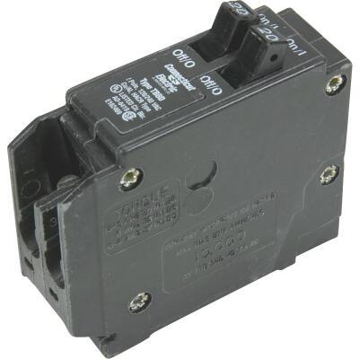 Connecticut Electric 20A/20A Twin Single-Pole Standard Trip Interchangeable Packaged Circuit Breaker