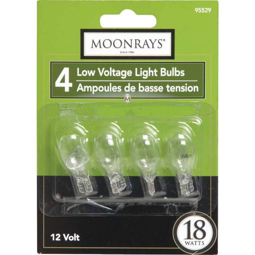 Moonrays 18W Clear T5 Wedge Base Landscape Low Voltage Light Bulb (4-Pack)