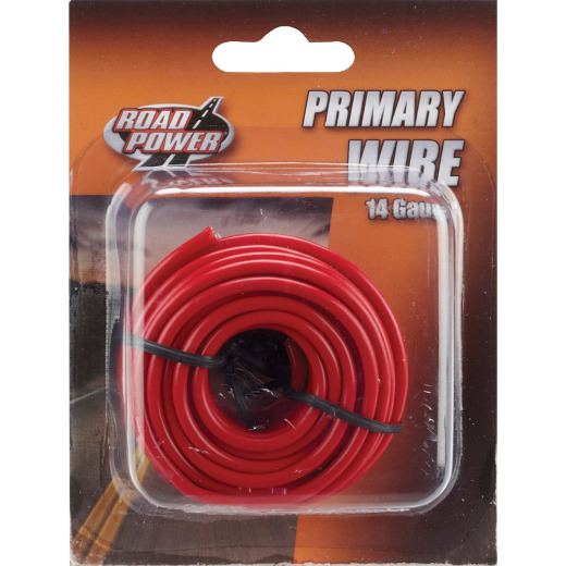 ROAD POWER 17 Ft. 14 Ga. PVC-Coated Primary Wire, Red