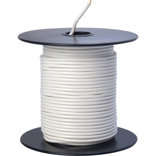 ROAD POWER 100 Ft. 18 Ga. PVC-Coated Primary Wire, White