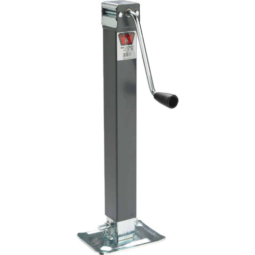 Bulldog 5000 Lb. Sidewind Square Tube Direct Weld Trailer Jack
