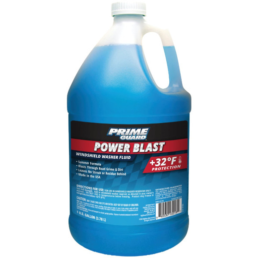 Prime Guard Power Blast Blue 1 Gal. +32 Deg F Summer Formular Windshield Washer Fluid