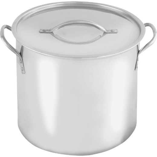 McSunley 12 Qt. Polished Stainless Steel Stockpot