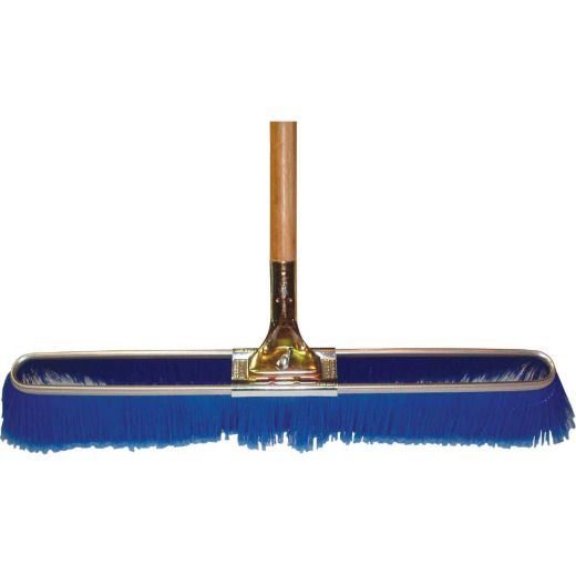 Bruske 23 In. W. x 65 In. L. Wood Handle Fine Sweep Push Broom