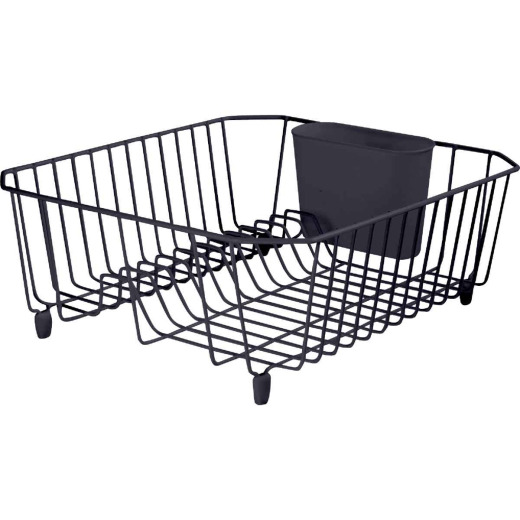 Rubbermaid 12.49 In. x 14.31 In. Black Wire Sink Dish Drainer