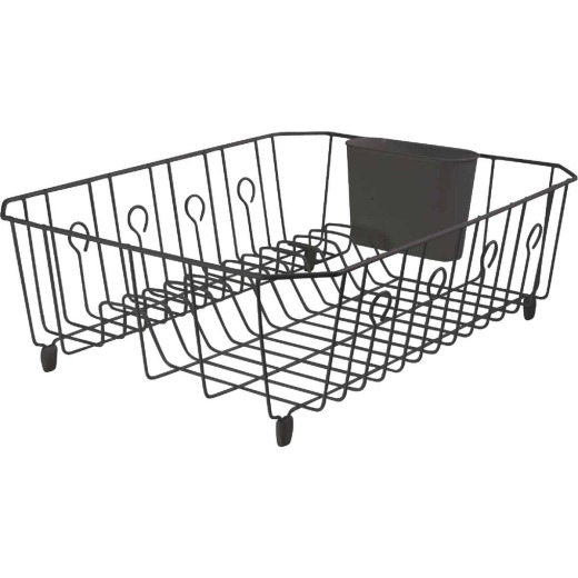 Rubbermaid 13.81 In. x 17.62 In. Black Wire Sink Dish Drainer