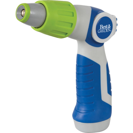 Best Garden Metal Pistol Nozzle, Blue & Gray