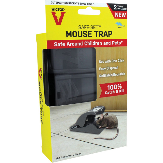 Victor Kill And Seal Mechanical Hygienic Mouse Trap (2-Pack)