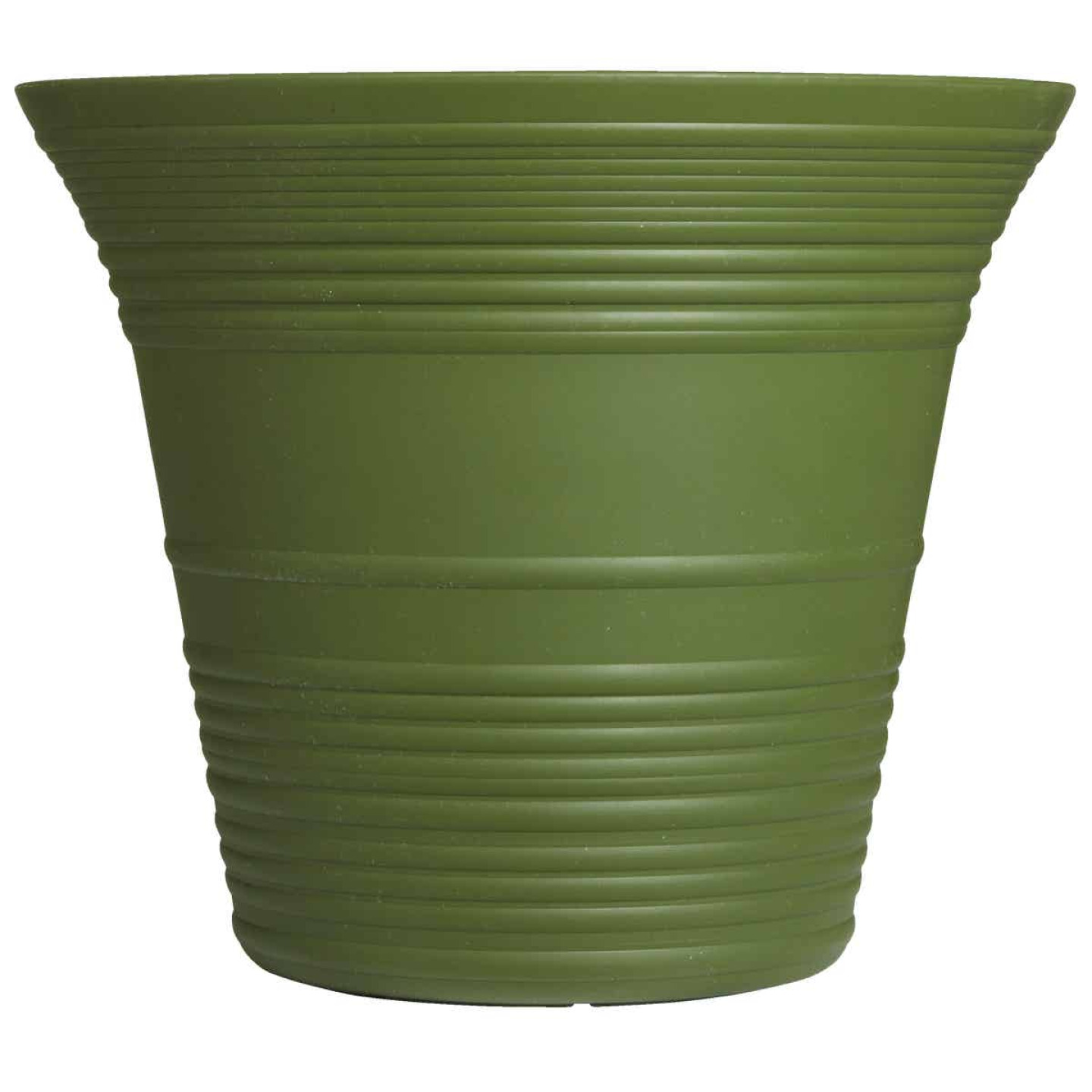 Myers Sedona 12 In. Polypropylene Woodland Green Planter Image 2