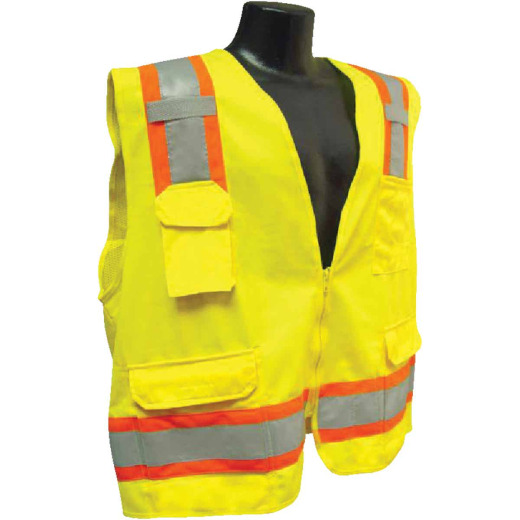 Radians Rad Wear ANSI Class 2 Hi Vis Green Safety Vest 2XL