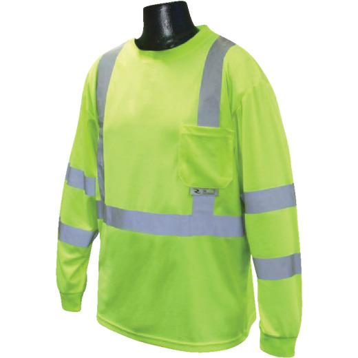 Radians Rad Wear ANSI Class 3 Hi Vis Green Safety T-Shirt 2XL