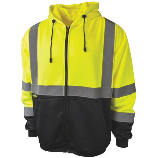 Radians Rad Wear ANSI Class 3 Hi Vis Green Safety Sweatshirt Large