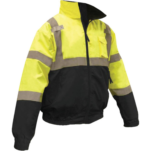 Radians Rad Wear ANSI Class 3 Hi Vis Green Safety Jacket 2XL