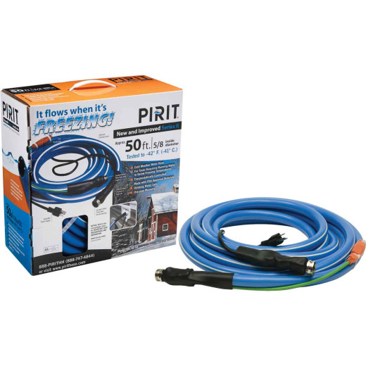 Pirit 5/8 In. Dia. x 50 Ft. L. Heated Water Hose