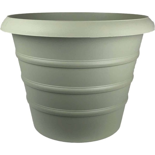 Myers Marina 12 In. Dia. Seafoam Poly Planter