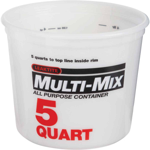 Leaktite 5 Qt. Multi-Mix All Purpose Mixing And Storage Container