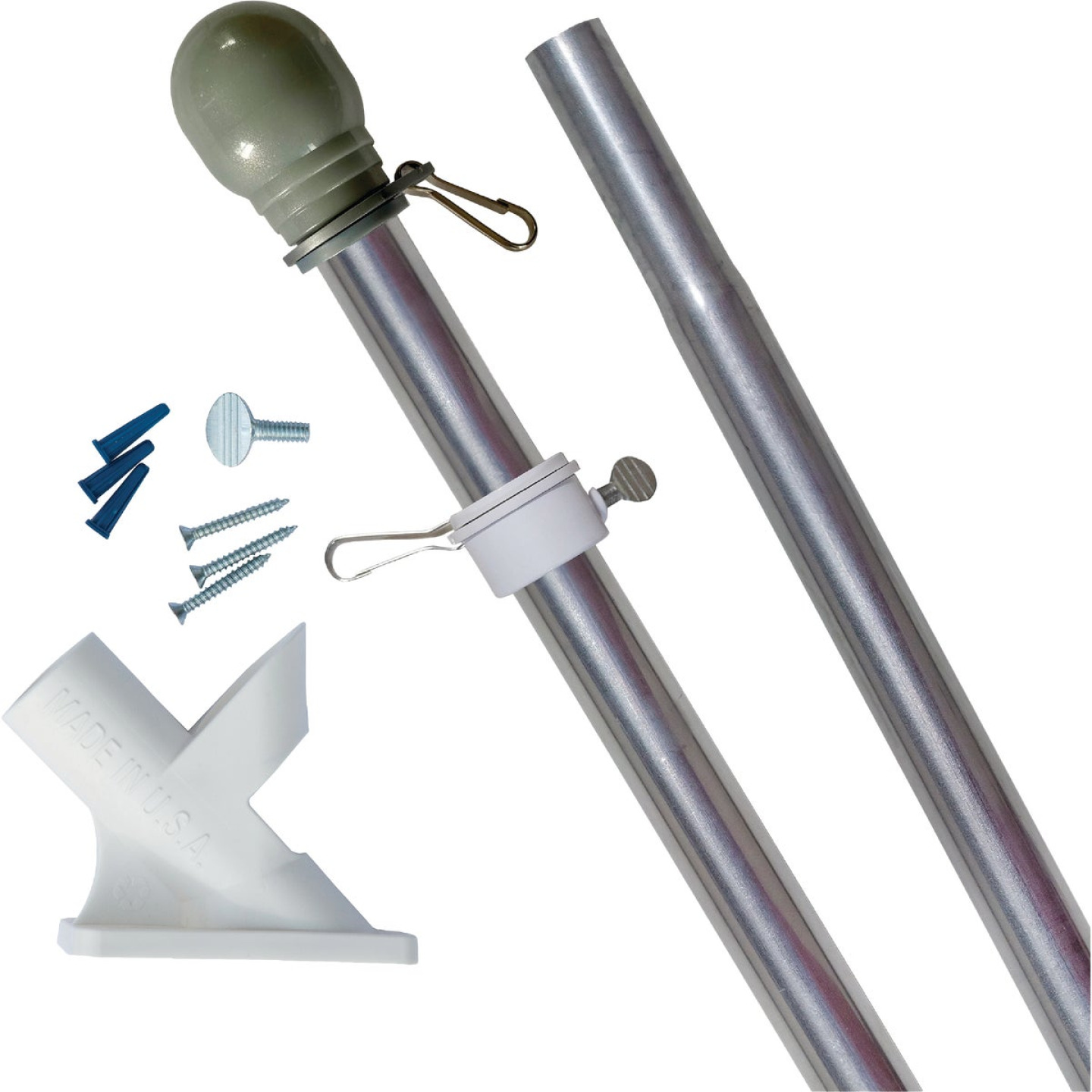 Valley Forge 3.5 Ft. x 5 Ft. Nylon American Flag & 6 Ft. Pole Kit Image 1