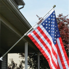 Valley Forge 3.5 Ft. x 5 Ft. Nylon American Flag & 6 Ft. Pole Kit Image 2