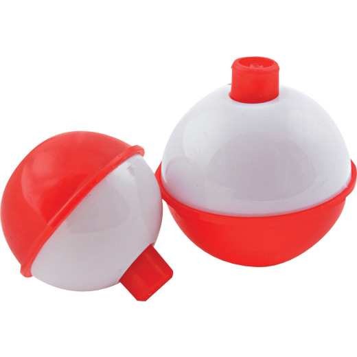 SouthBend Assorted Sizes Red & White Push-Button Fishing Bobber Float (10-Pack)