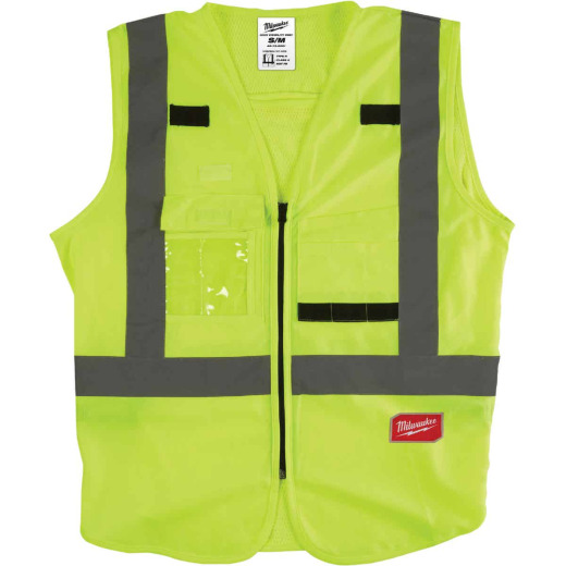 Milwaukee ANSI Class 2 Hi Vis Yellow Safety Vest Small/Medium