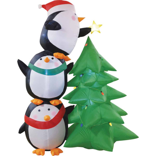 Southern Joy 7 Ft. Penguin Trim the Tree Airblown Inflatable